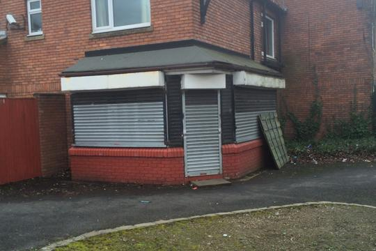 This empty shop on Eccles New Road has been converted into a home