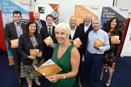 Greater Manchester Housing Provider representatives at the launch of the Ambition to Deliver manifesto