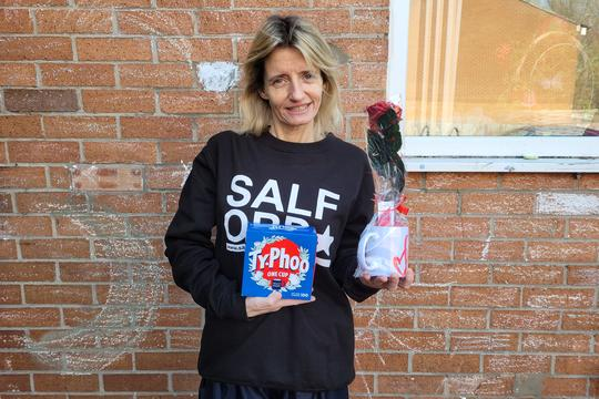Keri Muldoon organised a Valentine's Day surprise for her community in Broughton, Salford