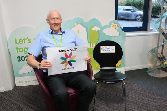 Mick Walsh, neighbourhood manager at Salix Homes, which is backing the Take a Seat campaign