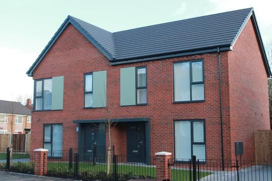 The new homes on the Poets development in Swinton