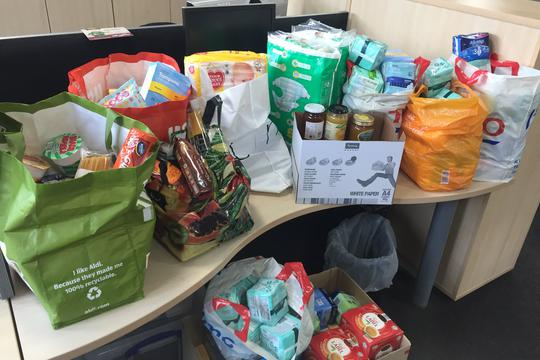 Salix Homes staff rally round for Salford Food Bank